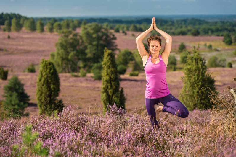 Yoga in der Lüneburger Heide