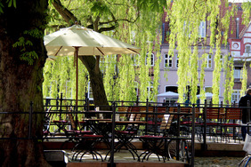 Biergarten in Lüneburg am Stintmarkt